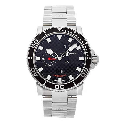 Ulysse Nardin Acqua Perpetual Calendar Mechanical (Automatic) Black Dial Mens Watch 333-55-3/02 (Certified Pre-Owned)