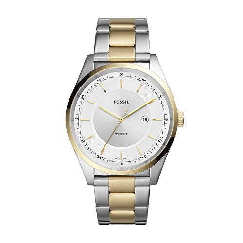 Fossil Men's Mathis Quartz Watch with Stainless-Steel Strap, Gold, 21 (Model: FS5426)
