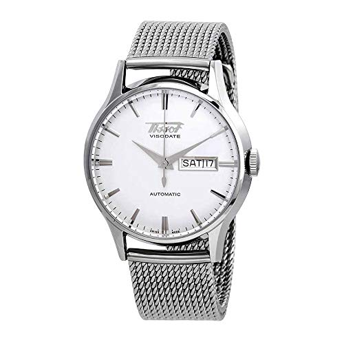 Tissot Men's Stainless Steel Mesh Heritage Visodate Automatic Watch T0194301103100