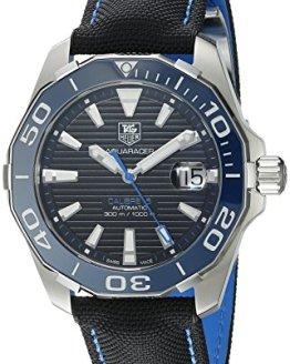 TAG Heuer Men's Aquaracr Analog Display Swiss Automatic Black Watch