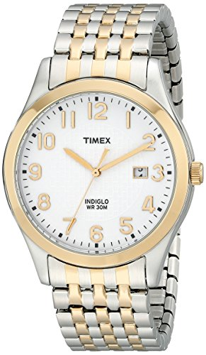 Timex Men's Elevated Classics Two-Tone Dress Watch with Expansion Band