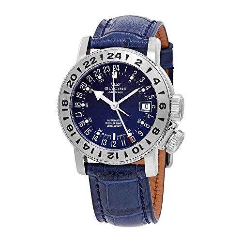 Glycine Airman 18 GMT Automatic Blue Dial Men's Watch GL0222