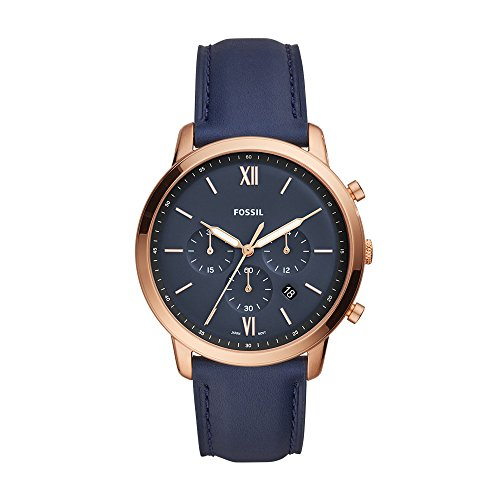 Fossil Men's FS5454 Neutra Chrono Analog Display Analog Quartz Blue Watch