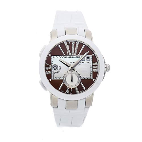 Ulysse Nardin Executive Dual Time Mechanical (Automatic) Brown Dial Womens Watch 243-10/30-05 (Certified Pre-Owned)