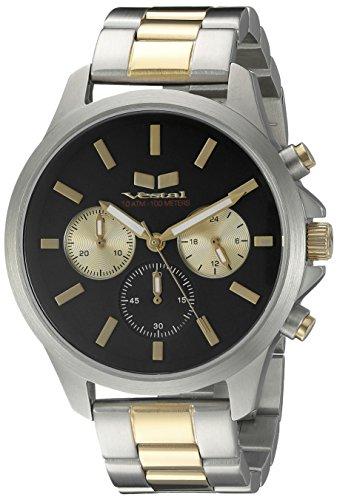 Vestal Unisex HEICM05 Heirloom Chrono Analog Display Quartz Silver Watch