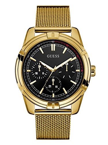 GUESS Men's Quartz Watch with Stainless-Steel Strap, Gold, 22 (Model: U0965G2)