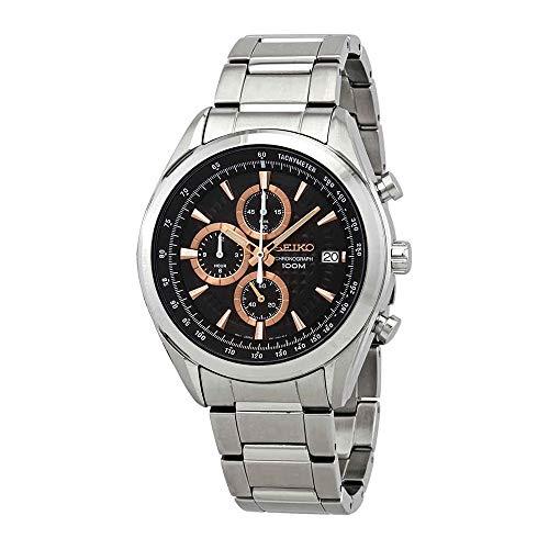 Seiko Mens Chronograph Quartz Watch with Stainless Steel Strap SSB199P1