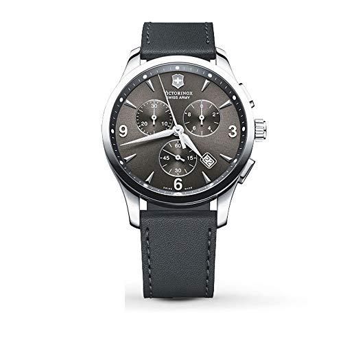 Victorinox Alliance Black Dial Leather Strap Mens Watch 241479XG (Renewed)