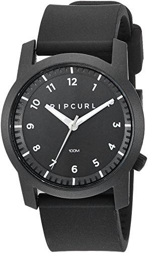 Rip Curl Men's 'Cambridge' Quartz Plastic and Silicone Sport Watch, Color:Black (Model: A3088-BLK)