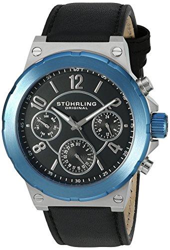 Stuhrling Original Men's 701.02 Leisure Gen X Sirocco Quartz Day and Date Blue Watch