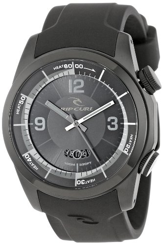 Rip Curl Men's A2624 - BLK Launch Stainless Steel Surf Watch with Black Silicone Band