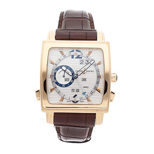 Ulysse Nardin Quadrato Mechanical (Automatic) Silver Dial Mens Watch 326-90/91 (Certified Pre-Owned)
