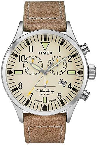 Timex Waterbury Watch - Leather Gents Quartz Chronograph