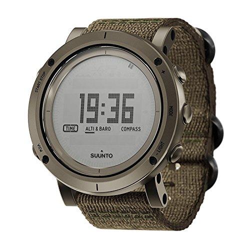 Suunto Essential Slate Digital Dial SS Textile Quartz Men's Watch SS021217000