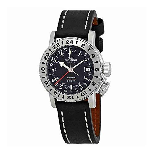 Glycine Airman 18 GMT Automatic Black Dial Mens Watch GL0225