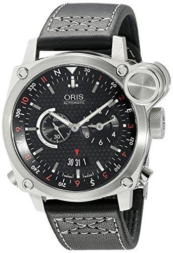 Oris Men's 690 7615 4154LS BC4 Flight Timer Automatic Black Dial Watch