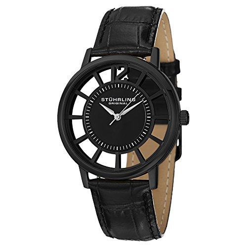 Stuhrling Original Men's Winchester Swiss Quartz Transparent Watch