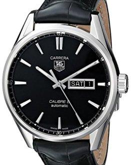 TAG Heuer Men's Analog Display Automatic Self Wind Black Watch