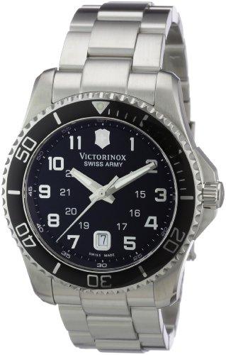 Victorinox Swiss Army Men's Maverick Stainless Steel Black Dial Watch