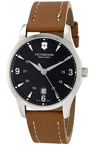 Victorinox Alliance Black Dial Leather Strap Mens Watch 241475XG (Renewed)