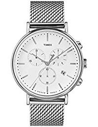 Timex Fairfield White Dial Stainless Steel Men's Watch
