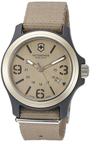 Victorinox Men's 241516 Original Analog Display Swiss Quartz Beige Watch