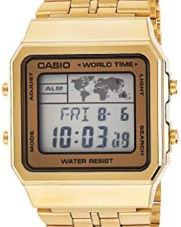 CASIO Men's Digital World TIME A500WGA-9DF Stainless Steel Watch