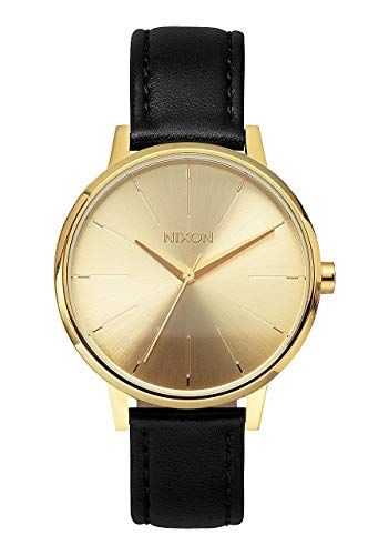 NIXON Kensington Leather A108 - Gold - 50m Water Resistant Women's Analog Classic Watch (37mm Watch Face, 16mm Leather Band)