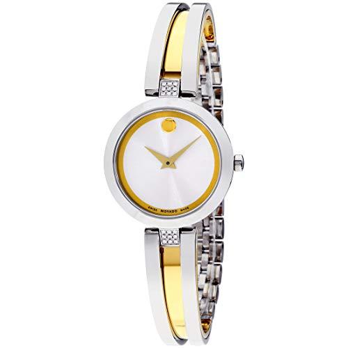 Movado Aleena Quartz Movement Silver Dial Ladies Watch 607159