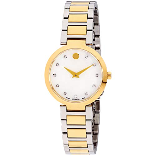 Movado Modern Classic Quartz Movement Mother Of Pearl Dial Ladies Watch 607103