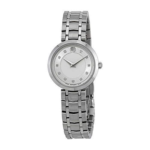 Movado 1881 Silver Diamond Dial Ladies Watch 0607097