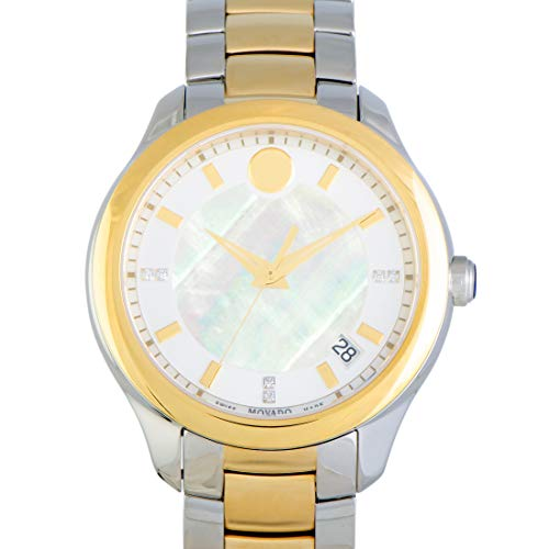 Movado Bellina Stainless Steel Yellow Gold PVD Mother of Pearl Watch