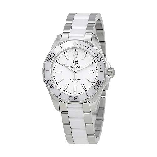 Tag Heuer Aquaracer White Dial Steel and Ceramic Ladies Watch