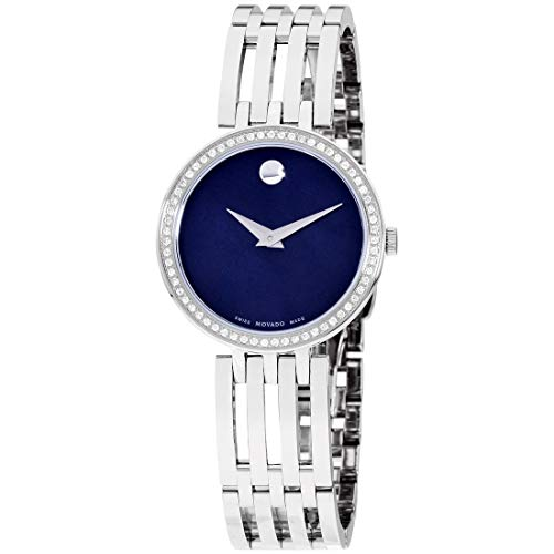 Movado Esperanza Quartz Movement Blue Mother Of Pearl Dial Ladies Watch 607231