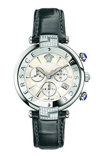 Versace Women's 'REVE' Swiss Quartz Stainless Steel and Leather Casual Watch