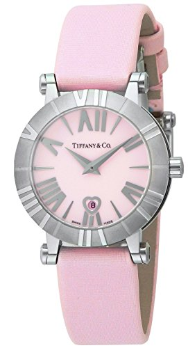 Tiffany & Co. Watch Atlas Pink Dial Satin Belt