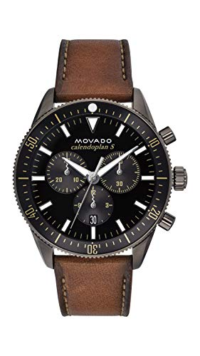 Movado Men's Heritage Chronograph Watch with a Printed Index Dial