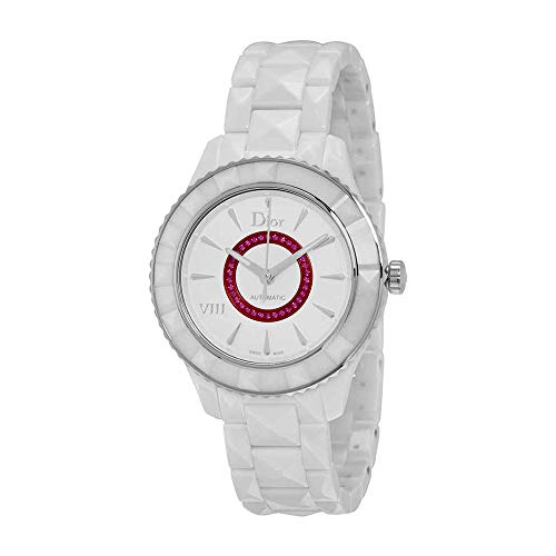 Dior VIII White Dial Ceramic Automatic 38mm Ladies Watch