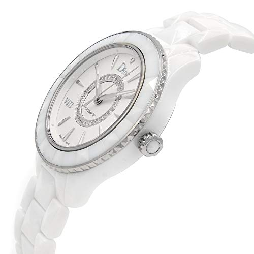 Dior VIII Diamond Automatic White Ceramic and Stainless Steel Ladies Dior VIII Diamond Automatic White Ceramic and Stainless Steel Ladies Watch CD1245E3C002.
