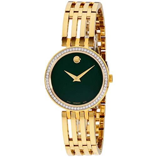Movado Esperanza Quartz Movement Green Mother Of Pearl Dial Ladies Watch 607233