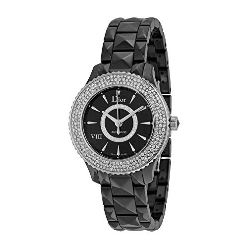 Christian Dior VIII Diamond Black Ceramic and Steel Ladies Watch