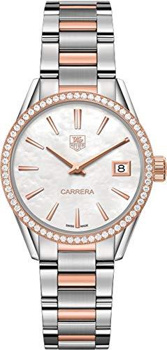 TAG Heuer Women's 'Carrera' Swiss Quartz Stainless Steel and Gold Dress Watch