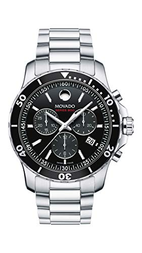 Movado Men's Series 800 Sport Chrongraph Watch with Printed Index Dial, Black/Silver/Grey 2600142