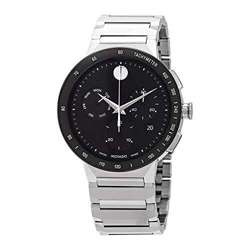 Movado Sapphire Chronograph Quartz Black Dial Men's Watch