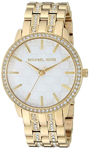 Michael Kors Women's Lady Nini Quartz Watch with Stainless-Steel-Plated Strap