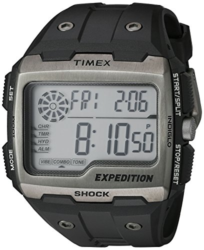 Timex Men's Expedition Grid Shock Black Resin Strap Watch