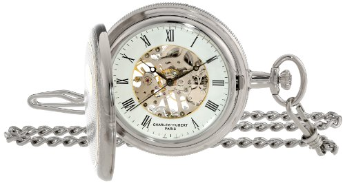 Charles Hubert Two-Tone Mechanical Pocket Watch