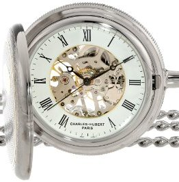 Charles Hubert Two-Tone Mechanical Pocket Watch
