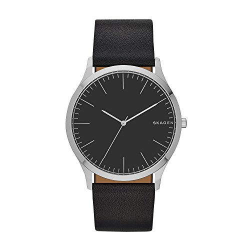 Skagen Men's Holst Quartz Stainless Steel and Leather Watch Color