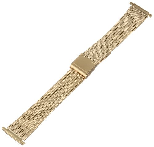 Hadley Roma 18-22mm Squeeze End Gold Tone Mens Watch Band Thin Mesh